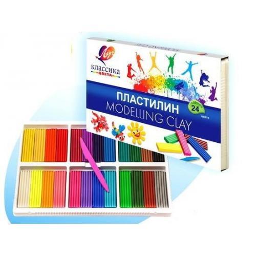 Пластилин Классика, 24 цвета