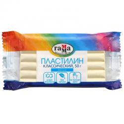Пластилин Классический, 50 грамм, белый