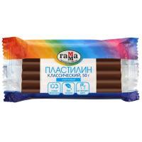 Пластилин Классический, 50 грамм, коричневый