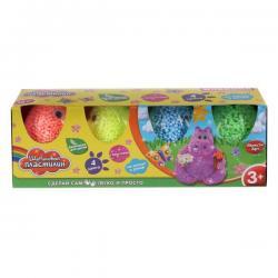 Набор шарикового крупнозернистого пластилина, 4 цвета