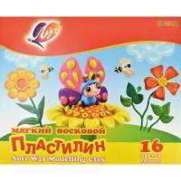 Пластилин мягкий Кроха, 16 цветов