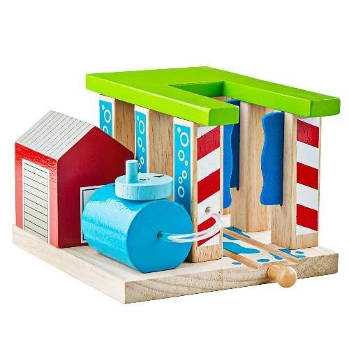 Деревянная игрушка Мойка для поездов