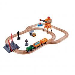 Игровой набор Hape Железная дорога с краном