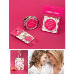 Подарочный набор из брелока на ключи, магнита и зеркала Любимая дочь