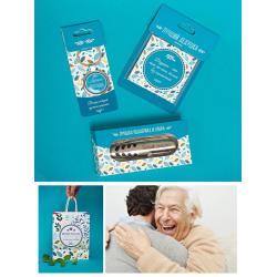 Подарочный набор из брелока на ключи, магнита и ножа Лучший дедушка