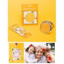 Подарочный набор из брелока на ключи, магнита и зеркала Лучшая мама