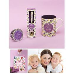Подарочный набор из кружки, ложки и зеркала Лучшая мама