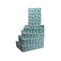 Набор прямоугольных коробок 5 в 1 Ламы
