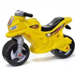 Мотоцикл-каталка 2-х колёсный, жёлтый