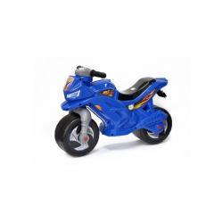Мотоцикл двухколёсный, синий