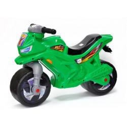 Мотоцикл двухколёсный, зелёный