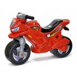 Мотоцикл двухколёсный, цвет красный