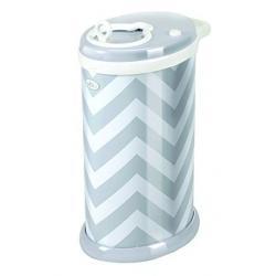Накопитель для использованных подгузников, цвет серый шеврон