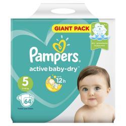 Подгузники Pampers Active Baby Dry, Junior, 11-16 кг, 64 штуки