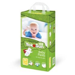 Детские подгузники-трусики YokoSun Eco, размер М (6-10 кг), 48 штук