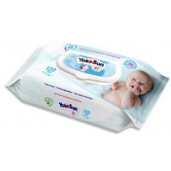 Детские влажные салфетки YokoSun, 120 штук