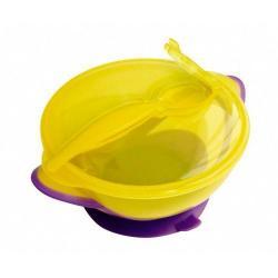 Тарелка Lubby Классика с ложкой (на присоске), 400 мл