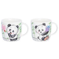 Набор кружек Панда. Панда с подарком, 11x8x7,5 см, 300 мл, 2 штуки (количество товаров в комплекте 2)