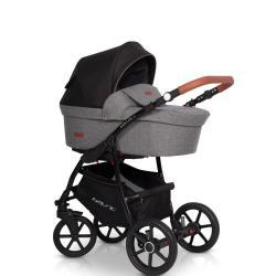 Детская коляска 2 в 1 Bella Lux, цвет серый
