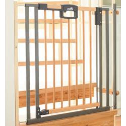 Ворота безопасности Easylock Wood (80,5-88,5х81,5 см), цвет натуральный-серебро