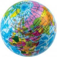 Мяч - антистресс Глобус, 63 мм