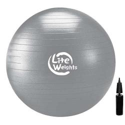 Мяч гимнастический, цвет серебро, с насосом, антивзрывной, 85 см