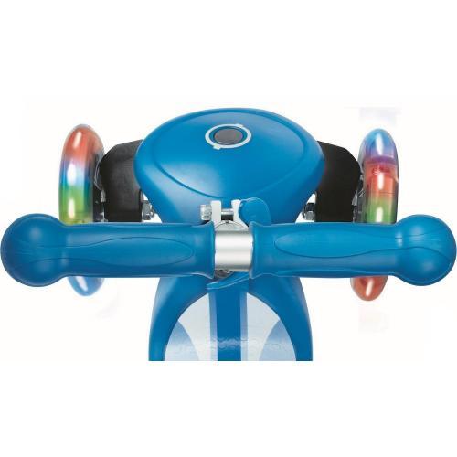 Самокат Globber Primo Fantasy Lights со светящимися колесами (цвет голубой)
