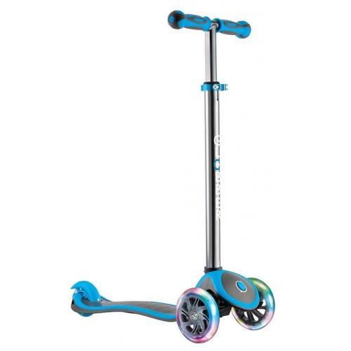 Самокат Globber My Free Up Titanium Lights, светящиеся колеса, цвет голубой
