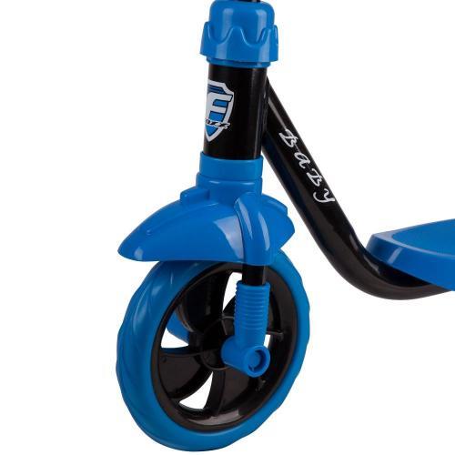 Самокат 3-х колесный Foxx Baby, пластиковая платформа (цвет черный)