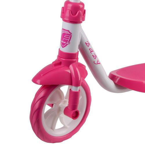 Самокат 3-х колесный Foxx Baby, пластиковая платформа (цвет белый)
