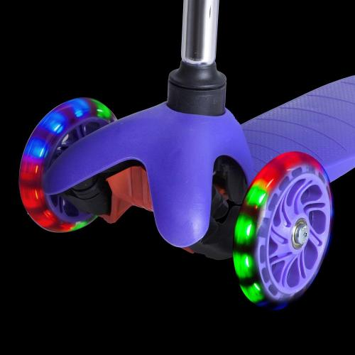 Самокат-кикборд Foxx Disco-kids, детский (фиолетовый)