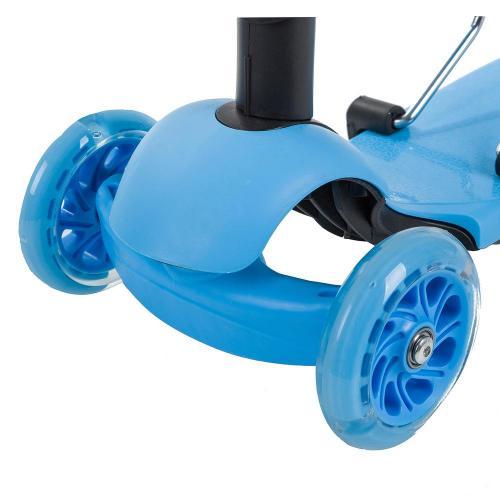 Самокат-кикборд Novatrack Disco-kids, детский, трансформер (голубой)