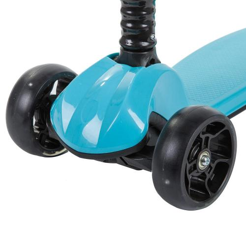 Самокат-кикборд Novatrack RainBow, подростковый, складной (синий)