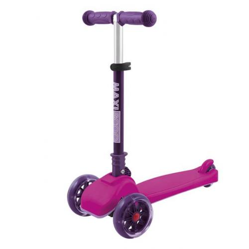 Самокат Mini, со светящимися колесами, цвет розовый