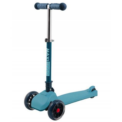 Самокат Mini, со светящимися колесами, цвет голубой