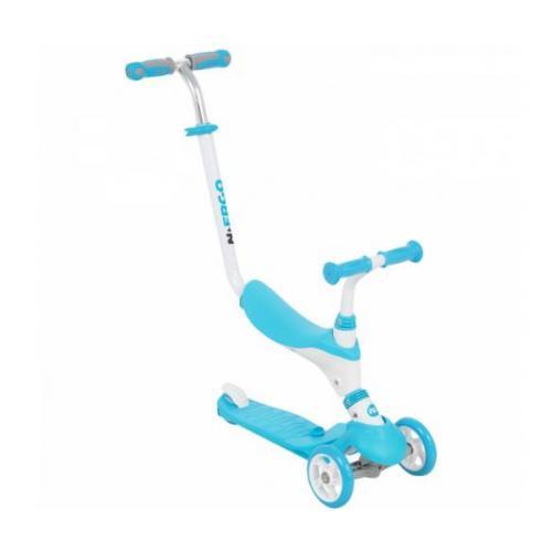 Самокат-каталка 3-х колесный N.Ergo, цвет голубой
