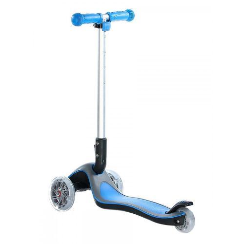 Самокат Funny Scoo Glow FL, c подсвечивающейся декой и колесами (цвет синий), арт. MS-945