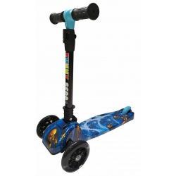 Самокат Funny Scoo Primo luxe, со светящимися колесами (цвет синий), арт. MS-918