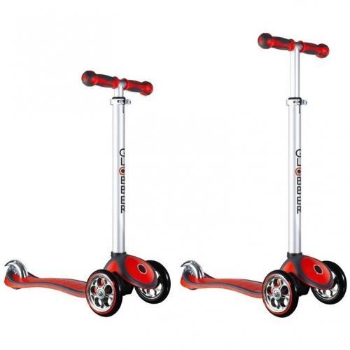 Самокат Globber My free. ALU, с блокировкой колес, цвет красный