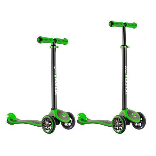 Самокат Globber My free. Titanium, с блокировкой колес, цвет неоновый зелёный