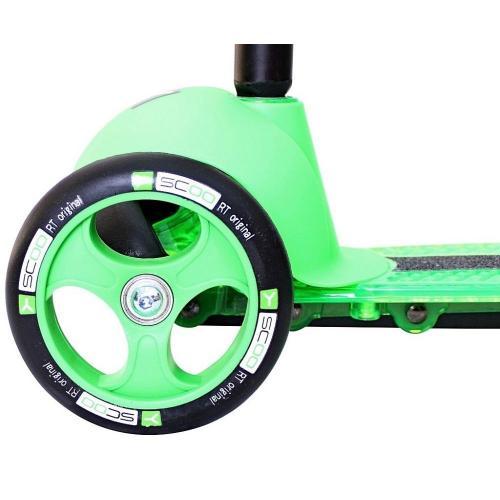 Самокат трёхколёсный Trio Diamond 120, цвет зелёный