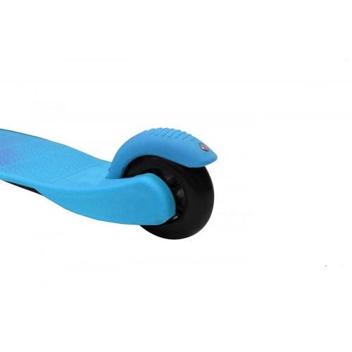Самокат трёхколёсный Mini Shine A-5, со светящимися колесами, цвет голубой