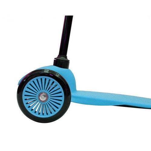 Самокат трёхколёсный Mini Simple A-5, с цветными колёсами, цвет голубой