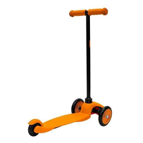 Самокат трёхколёсный Mini Simple A-5, с цветными колёсами, цвет оранжевый