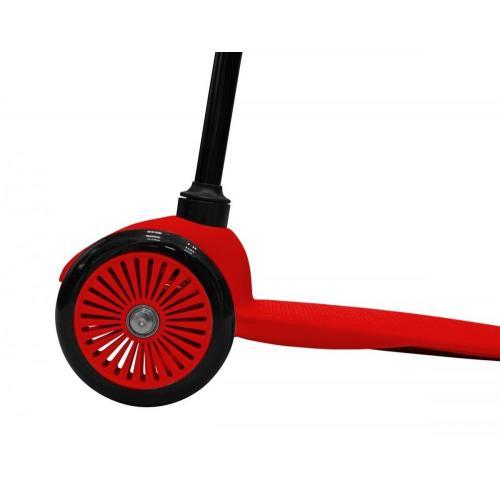 Самокат трёхколёсный Mini Simple A-5, с цветными колёсами, цвет красный