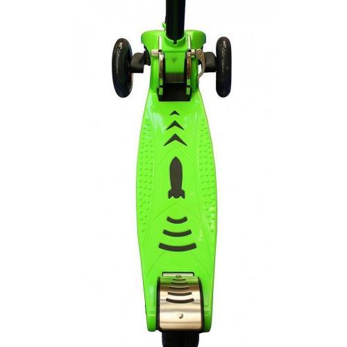 Самокат Maxi City Simple Gagarin, трансформер, с ручным тормозом, цвет зелёный