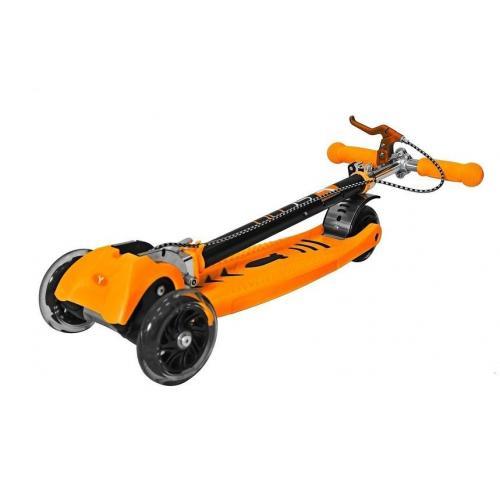 Самокат Maxi City Simple Gagarin, трансформер, с ручным тормозом, цвет оранжевый