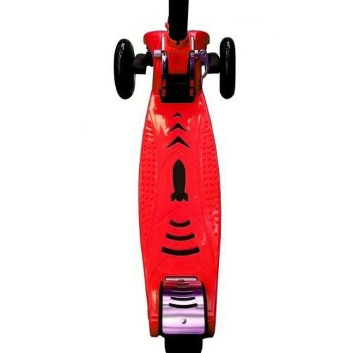 Самокат Maxi City Simple Gagarin, трансформер, с ручным тормозом, цвет красный