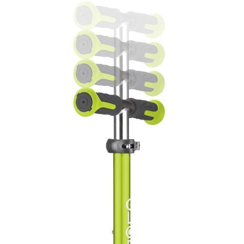 Самокат Globber Elite Deluxe Flash Lights, зеленый
