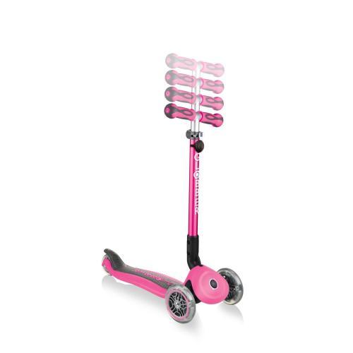 Самокат Globber Go Up Deluxe Play Lights, розовый